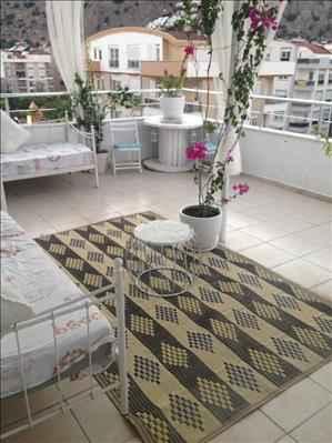 خانه یک خوابه دوبلکس فروشی در آنتالیا کنیالتی با تراس زیبا
